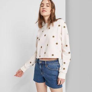 Wild Fable Denim Cut Off Jean Mom Shorts